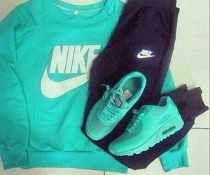 nike, sport, and blue image