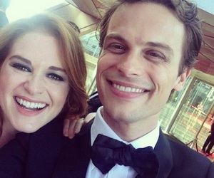 criminal minds, sarah drew, and matthew gray gubler image