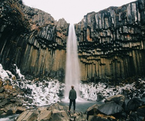 travel, landscape, and waterfall image