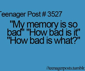 memories, funny, and teenager post image