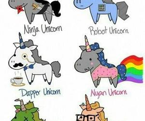 unicorn, ninja, and zombie image