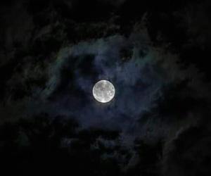 niebo księżyc chmury image