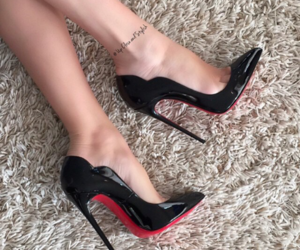 fashion, red bottoms, and shoes image