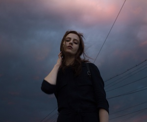 girl, grunge, and sky image