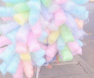 cotton candy, food, and pastel image