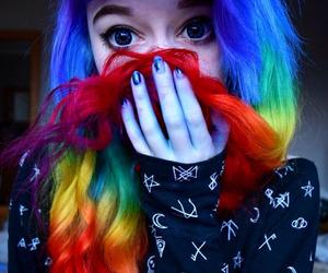 hair and rainbow image