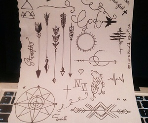 arrow, doodle, and draw image