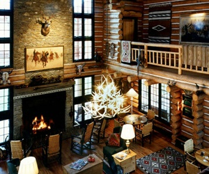 chalet, decor, and interior image