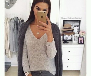 clothes, eyebrow, and iphone image