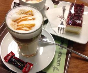 cake, caramel, and coffee image