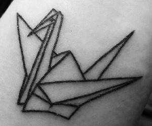 crane, japan, and tattoo image