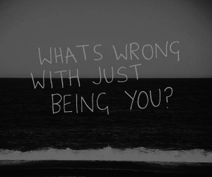 quote, you, and black and white image