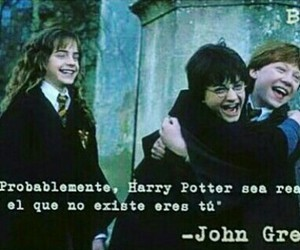 frases, harry potter, and john green image