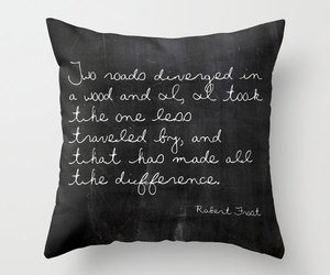 black and white, etsy, and pillow image