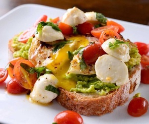 food, healthy, and toast image