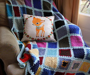 blanket, cozy, and crochet image