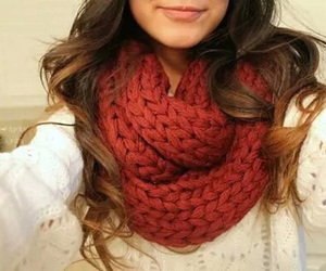 scarf, fashion, and hair image