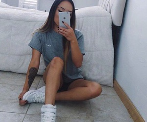 girl, nike, and style image