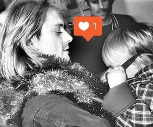 kurt cobain, cute, and baby image