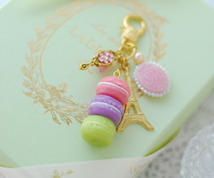 charm, keychain, and dessert image