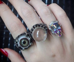 rings, eye, and grunge image