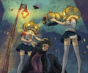anime, trick or treat, and ghost image