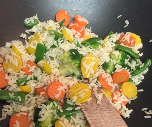 rice, veggies, and vegetables image
