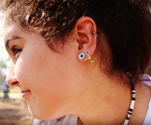colar, necklace, and piercing image