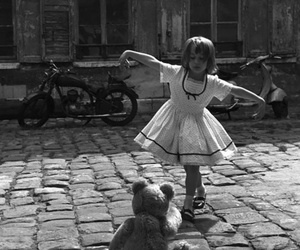 black and white, dance, and child image