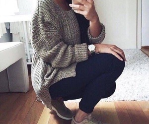 brown, nike, and outfit image