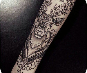 tattoo, deer, and animal image