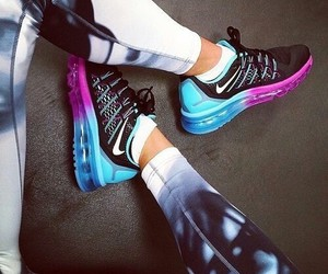air max, shoes, and leggings image