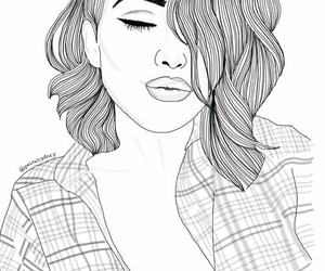 art, outline, and beautiful image