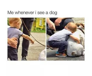dog, me, and baby image
