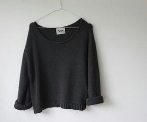 fashion, black, and sweater image