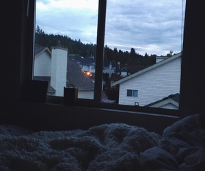 grunge, sky, and room image