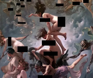 art, theme, and censored image