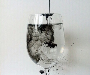 black, water, and glass image