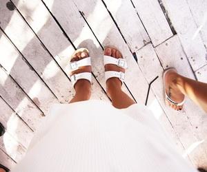 birkenstock, fashion, and feet image