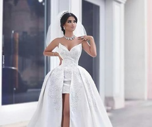 dress, beauty, and bride image