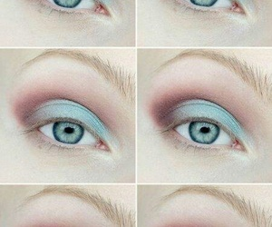 make up, tutorial, and eyes image