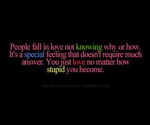 stupid and love image