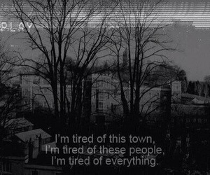 tired, people, and town image