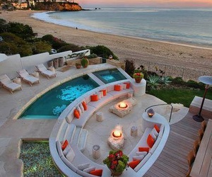beach, summer, and pool image