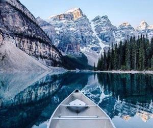 mountains, nature, and lake image