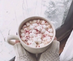 winter, marshmallow, and snow image