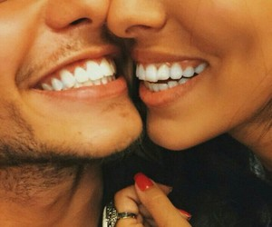 couple, happiness, and smile image