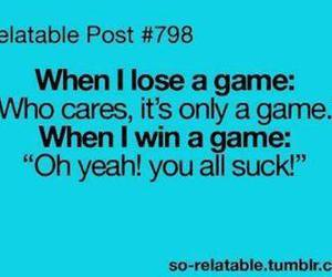 game, funny, and quote image