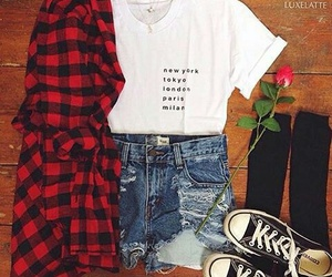 converse, t-shirt, and cool image