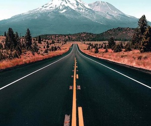 road, mountain, and travel image